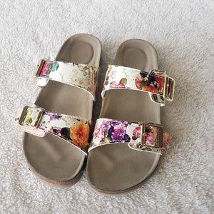 Madden Girl Floral Brando Sandals